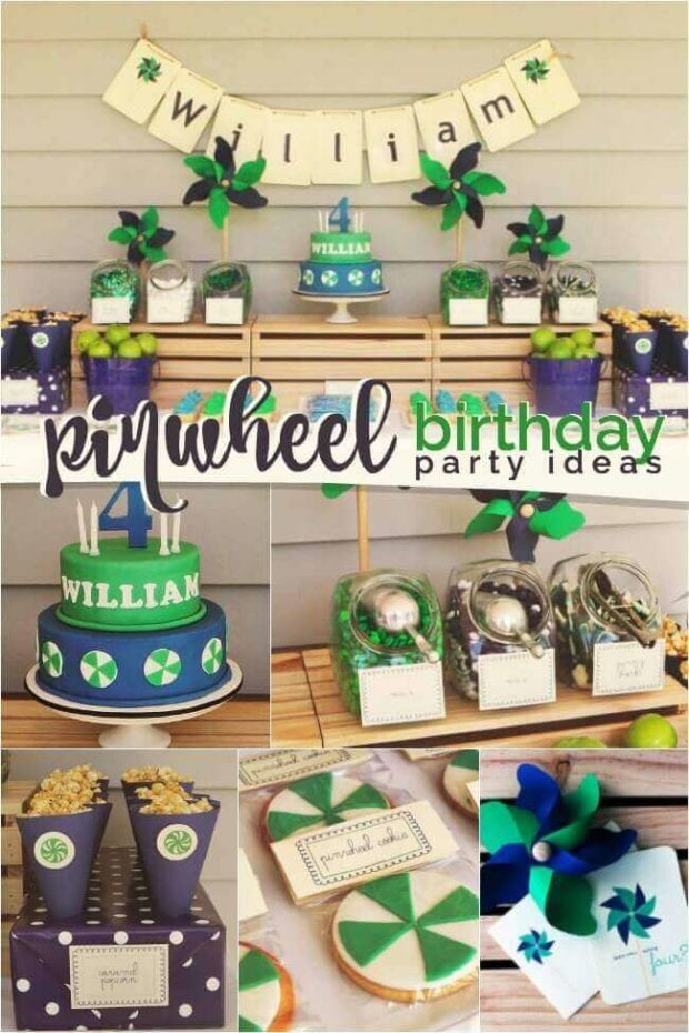 Pinwheel Themed Boy's Birthday Party