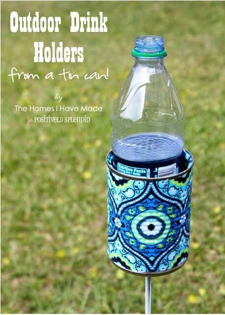 Use this Outdoor Drink Holder hacks and never spill your drink again.