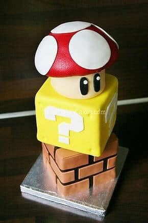 This cute classic Super Mario Brothers Cake will delight guests and inspire nostalgia.