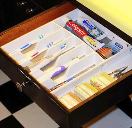 Toothbrush Drawer Organization
