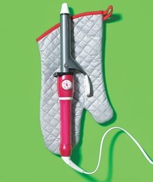 Travelling with a curling iron? Take an oven mitt to prevent burning your clothes.