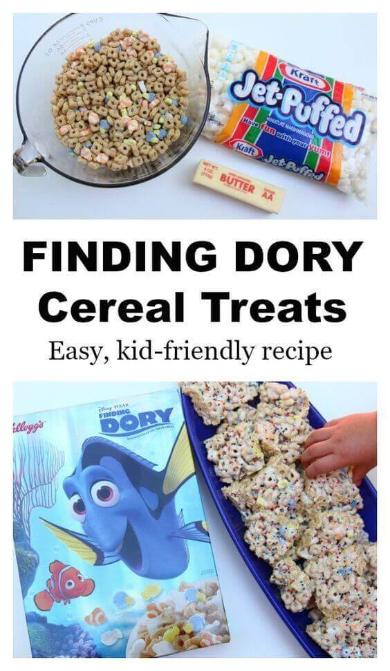 Finding Dory Cereal Treats