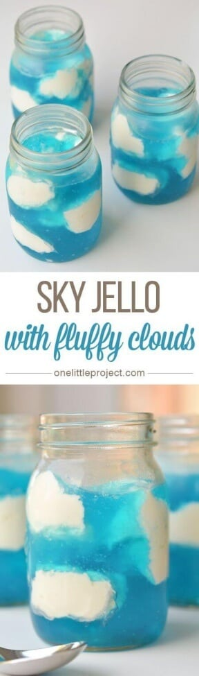 Sky Jello with Fluffy Clouds