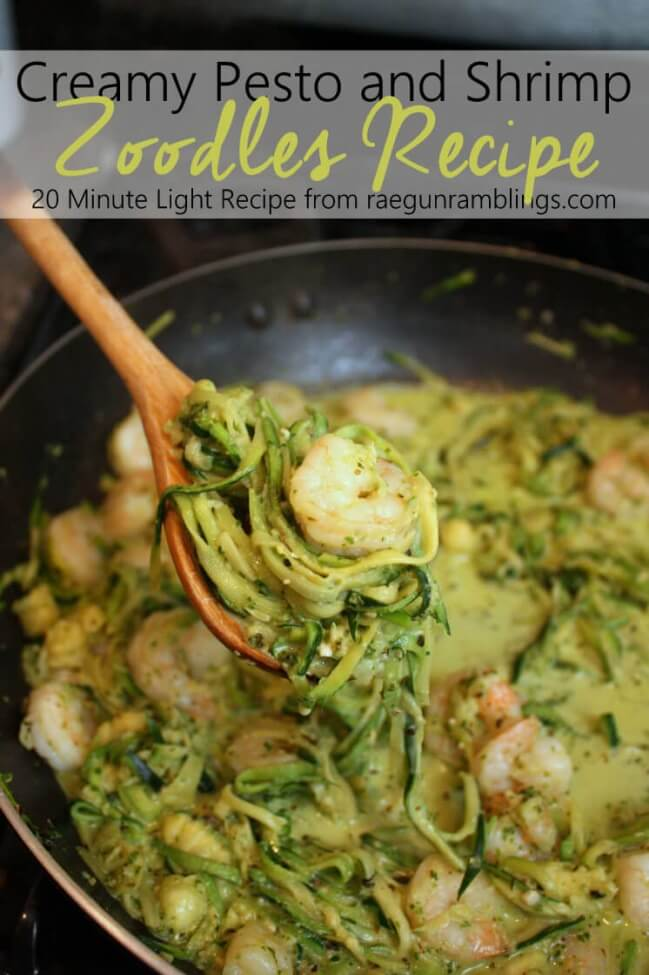 Creamy Zoodles with shrimp