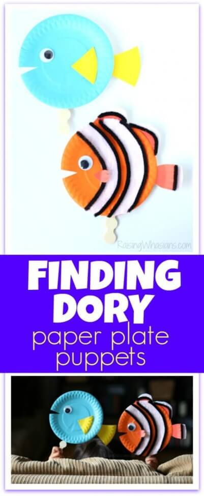 Finding Dory Paper Plate Puppets