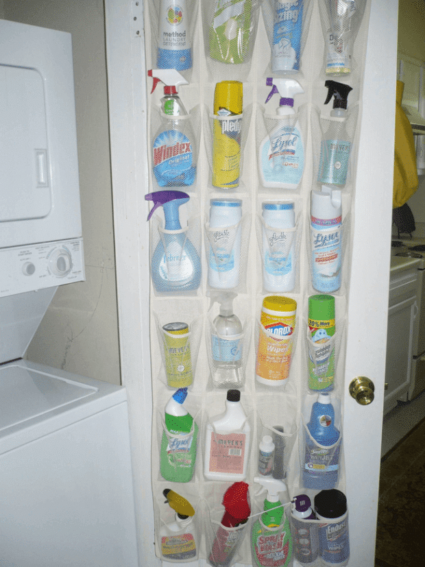 Shoe Organizer for Cleaning Supplies
