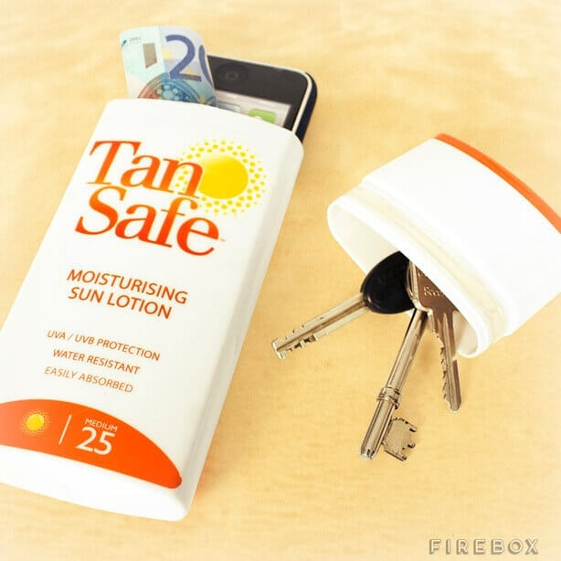 This summer beach hack is a great, free way to recycle and keep your valuables safe.