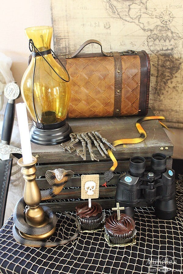 Indiana Jones Themed Birthday Party Table