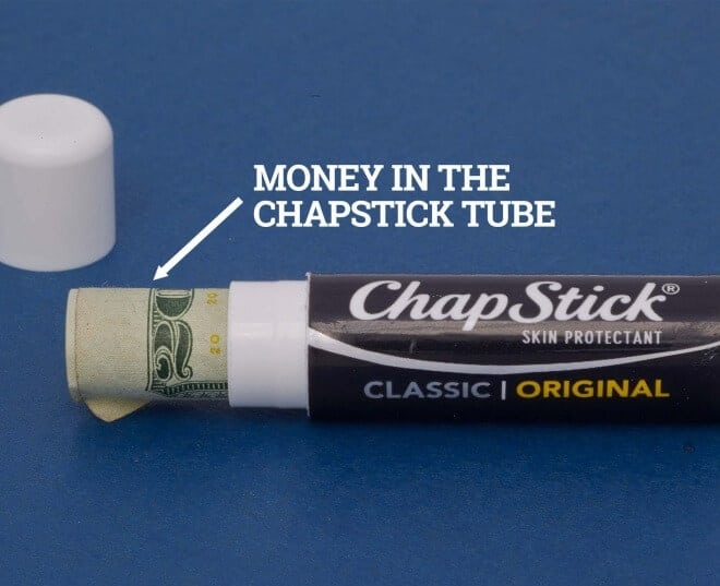 Chapstick Money Holder