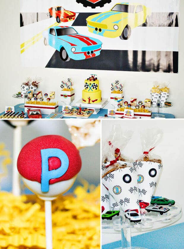 Boy's Birthday Race Car Dessert Table