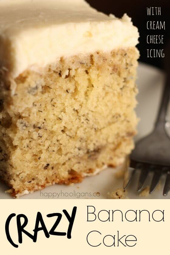 Banana Cake With Shortening Frosting