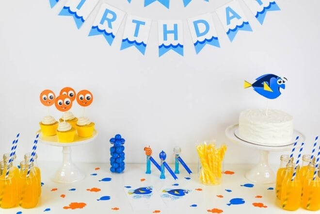 Finding Dory Birthday Party + Free Printables