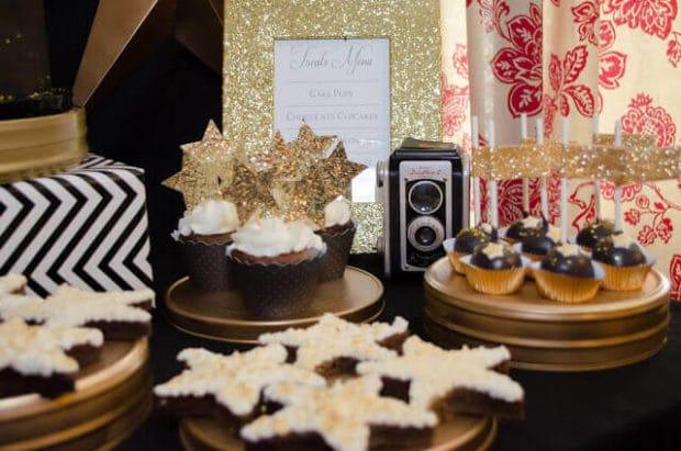 Boys Hollywood Birthday Party Dessert Brownie Ideas