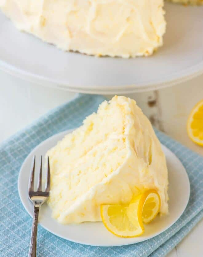Fluffy Lemon Layer Cake