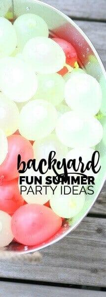 Fun Backyard Summer Party Ideas