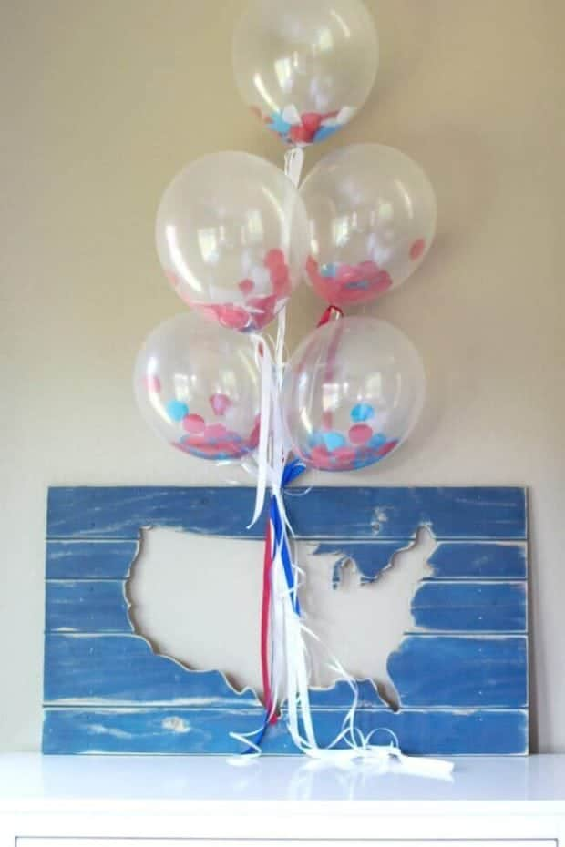 Balloon Decor for 4th of July