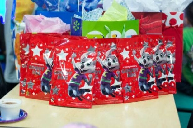 Chuck E Cheese Birthday Party Favor Bags