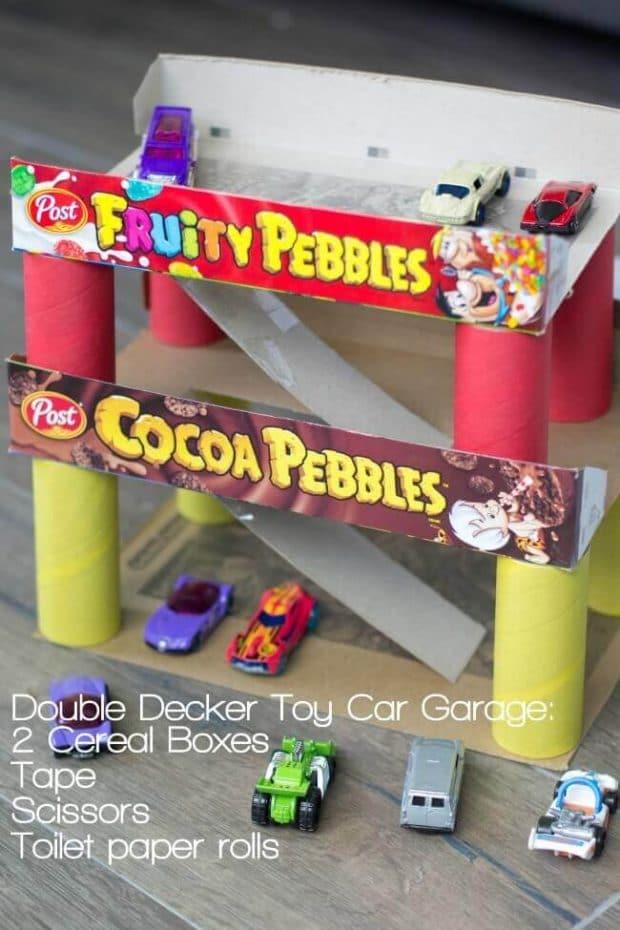 Double Decker Toy Car Garage DIY