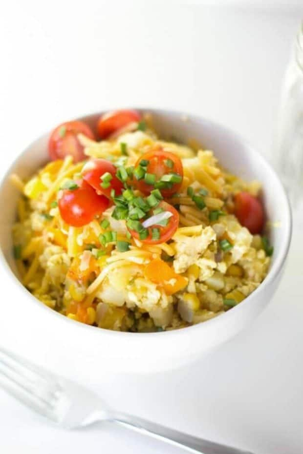 Grilled Scrambled Eggs