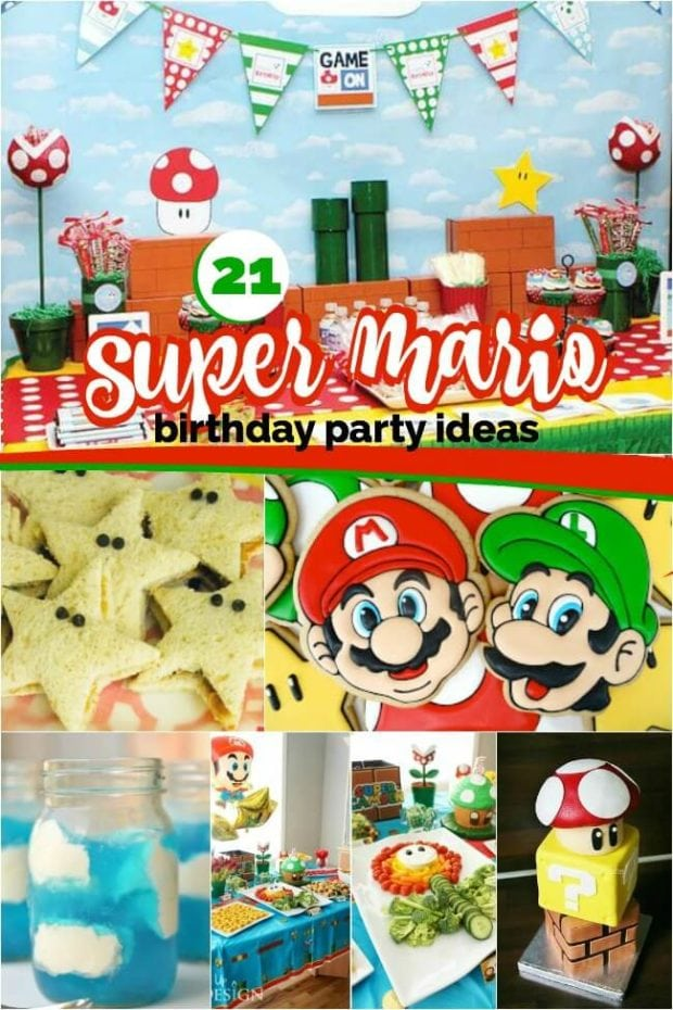 21 Super Mario Brothers Party Ideas and Supplies