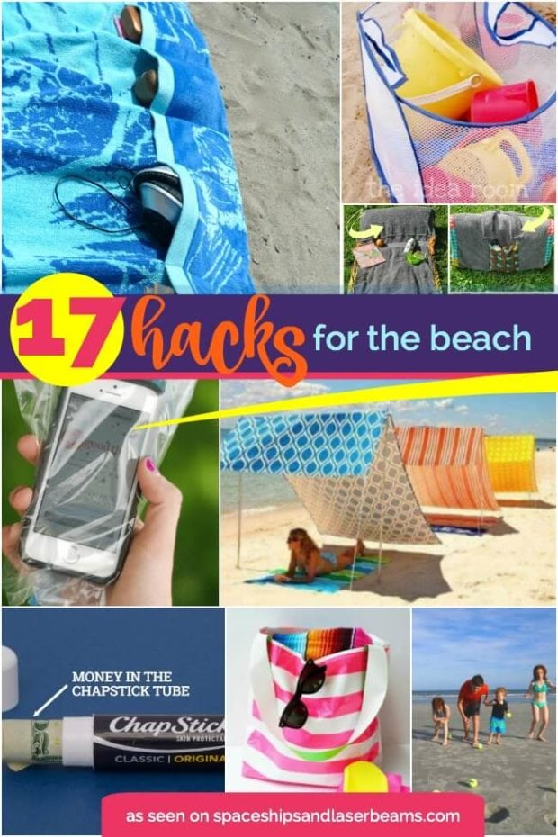 17 hacks for the beach from Spaceships and Laser Beams.