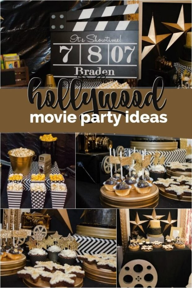A boy s hollywood movie themed birthday party spaceships for Hollywood party dekoration