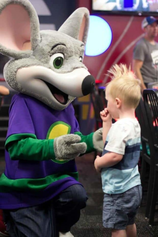 Meeting Chuck E Cheese
