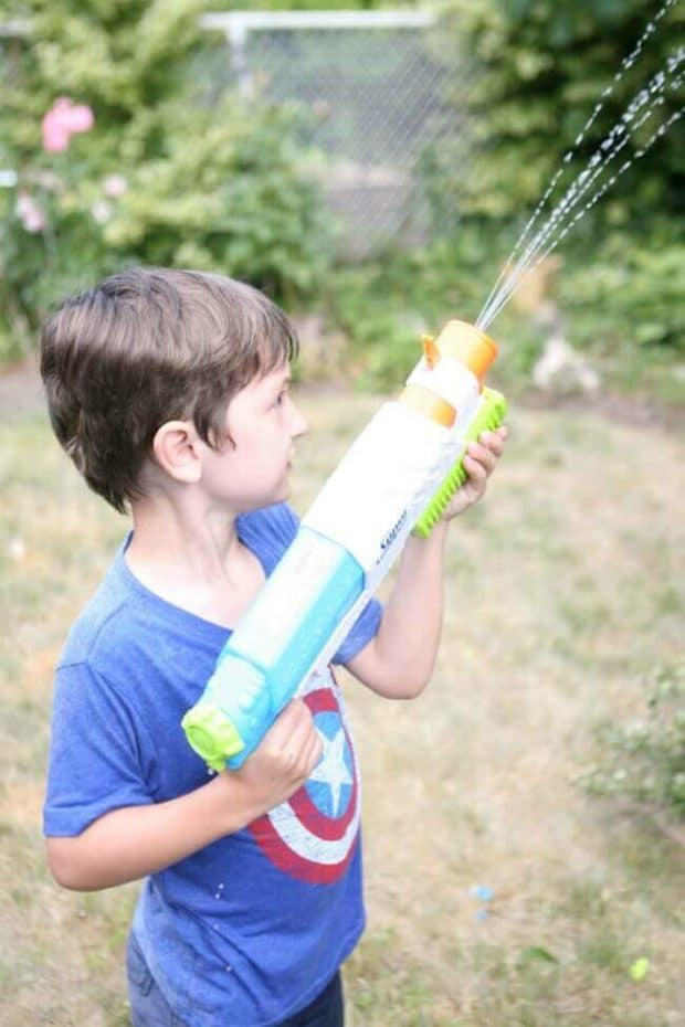 Nerf Water Fun for a Backyard Party