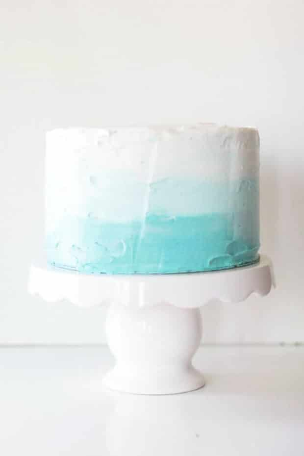 Ombre Cake for Baby Shower