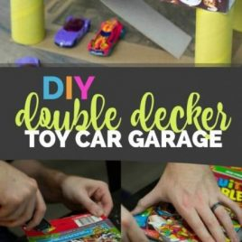 DIY Double Decker Toy Car Garage