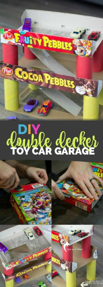 DIY Double Decker Toy Car Garage