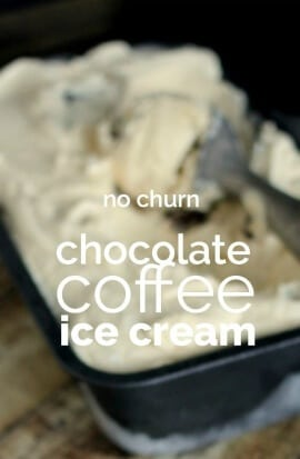 Homemade Chocolate Coffee Ice Cream