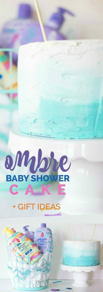 Ombre Baby Shower Cake