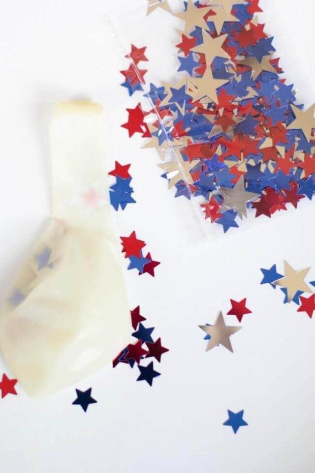 Stars Inside Helium Balloons