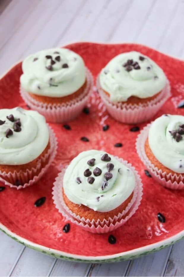 watermelon cupcakes party food (3)