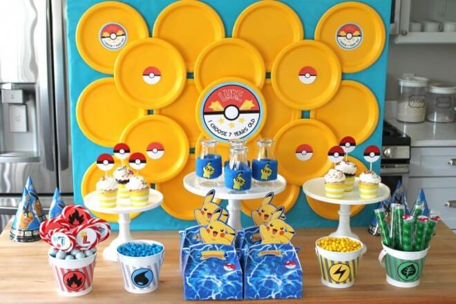 Pokemon Party Dessert Table