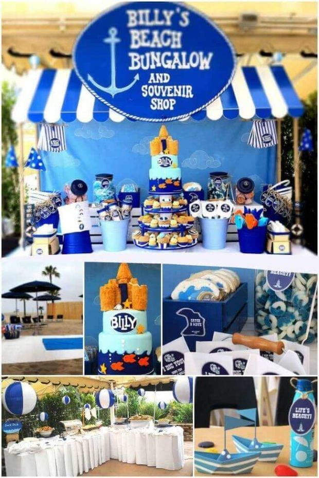 Boy's Beach Birthday Party