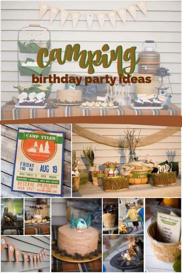 Boy's Camping Birthday Party