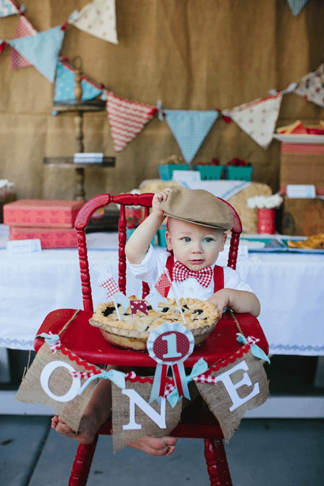 Boy's 1st Birthday County Fair Theme