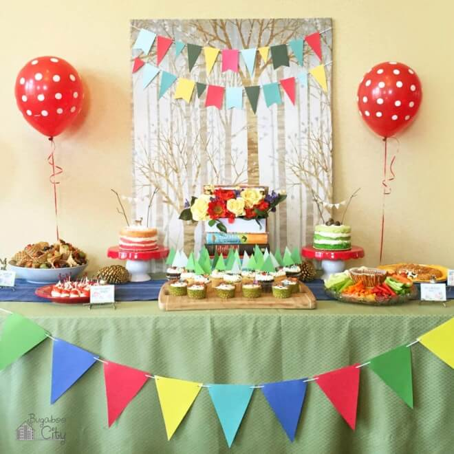 Woodland Book Birthday Party