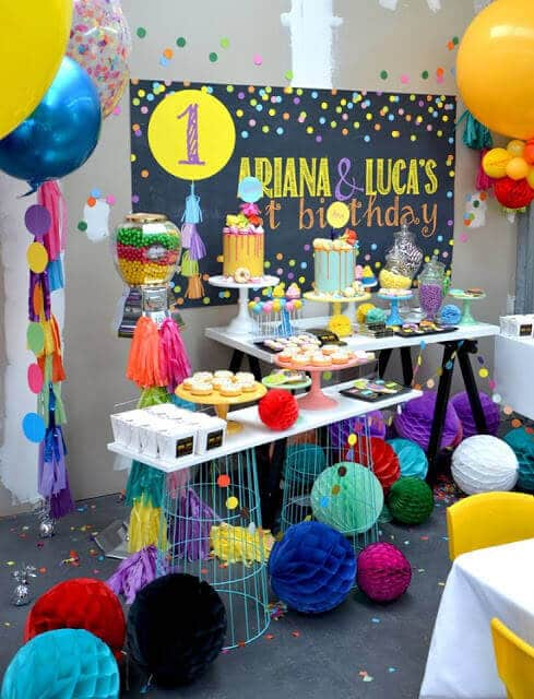 Confetti First Birthday Party Ideas