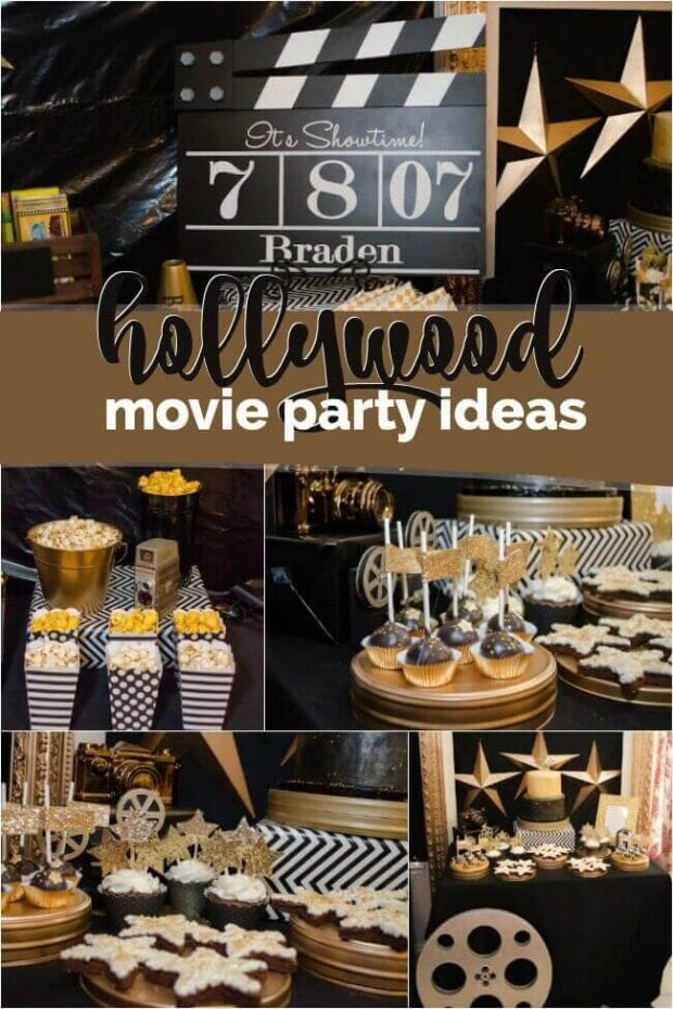 Boy's Hollywood Movie Party Ideas