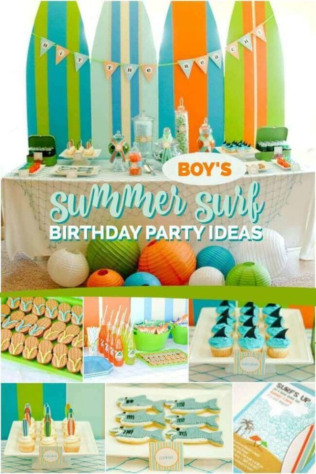 Boy's Summer Surf Birthday Party