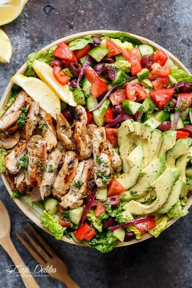 Grilled Lemon Herb Chicken Salad