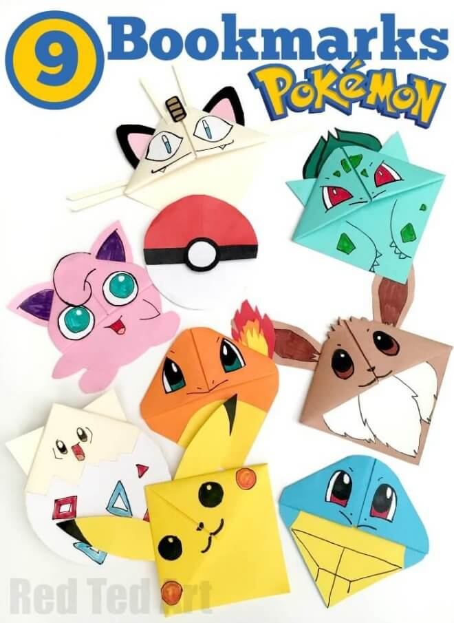 Pokemon Bookmark Kids Craft Idea