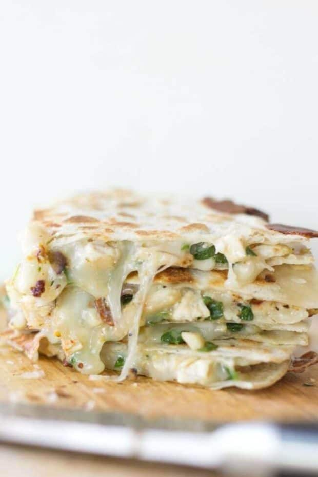 Sun Dried Tomato, Spinach & Artichoke Quesadilla