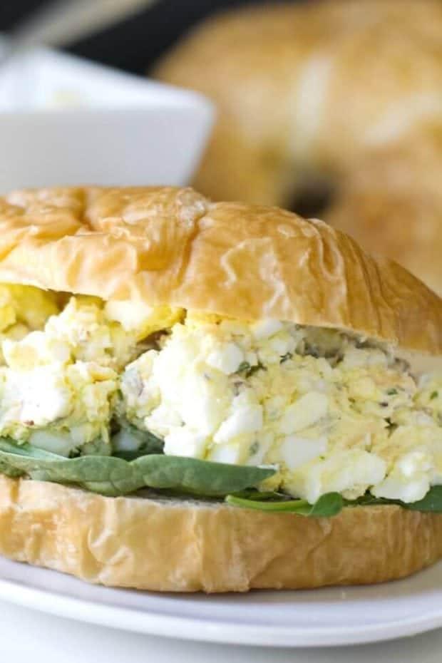 Salad cream sandwich