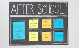 After School Organization Ideas