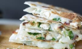 Sun Dried Tomato, Spinach & Artichoke Quesadillas