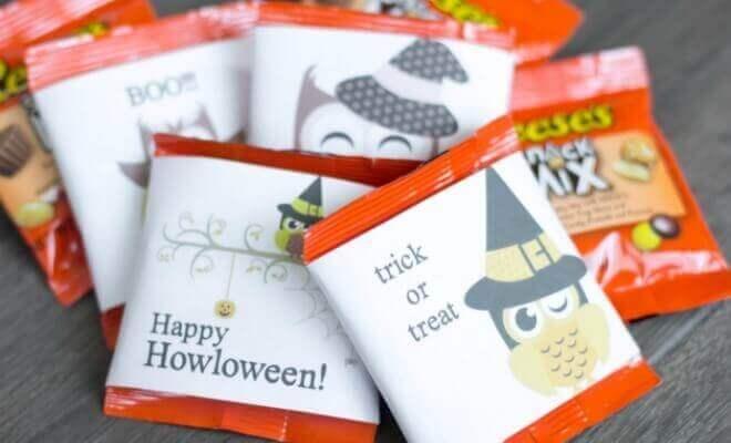 Owl Themed Halloween Candy Ideas + Free Printable